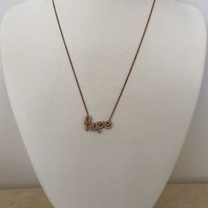 Rose Gold Vermeil Hope Necklace